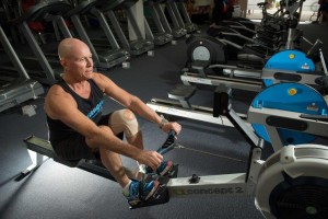 Concept 2 rowing machine workout